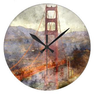 Reloj Redondo Grande Puente Golden Gate de San Francisco en California