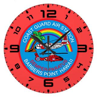 Reloj Redondo Grande Punto Hawaii de los peluqueros de la estación