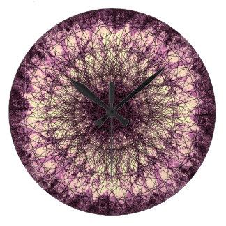 Reloj Redondo Grande Purple Mandala