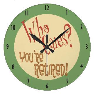 Reloj Redondo Grande ¿Quién cuida? ¡Le retiran! retiro divertido