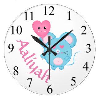 Reloj Redondo Grande Ratón
