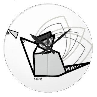Reloj Redondo Grande Ratón origami