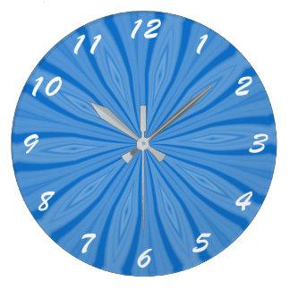 Reloj Redondo Grande Rayas azules de Jánuca