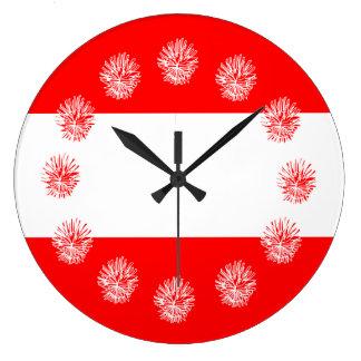 Reloj Redondo Grande Rayas náuticas intrépidas frescas