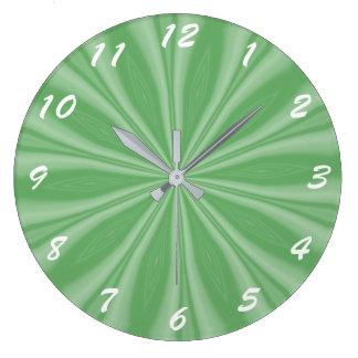Reloj Redondo Grande Rayas verdes