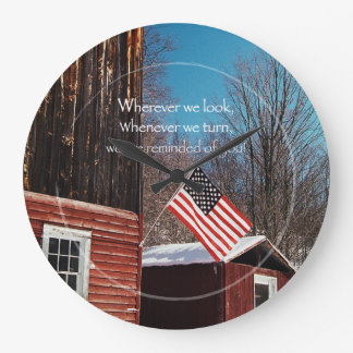 Reloj Redondo Grande Recordatorios patrióticos de la bandera del