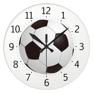 Reloj Redondo Grande Regalos frescos con clase del balón de fútbol el |