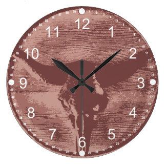 Reloj Redondo Grande Regalos occidentales del vaquero del cráneo de Bul