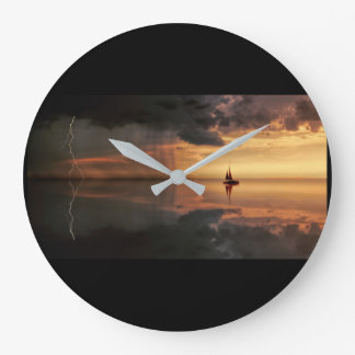 Reloj Redondo Grande registre, tormenta grande, redonda, distante de la