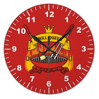 Reloj Redondo Grande Reina de la parrilla