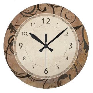 Reloj Redondo Grande Remolinos elegantes italianos antiguos Toscana