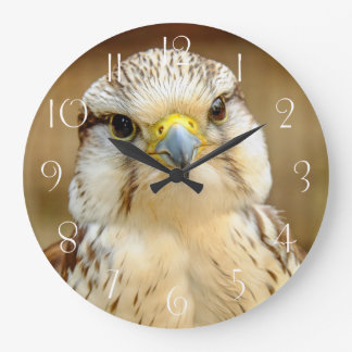 Reloj Redondo Grande Retrato del animal de Gyrfalcon
