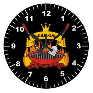 Reloj Redondo Grande Rey de la parrilla