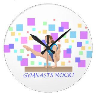 Reloj Redondo Grande ¡Roca de los gimnastas!  Haz de balanza