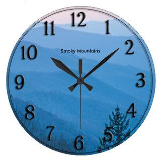 Reloj Redondo Grande Salida del sol ahumada Newfound de la montaña de