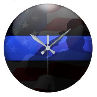 Reloj Redondo Grande Saludo de bandera fino del gorra de campaña de