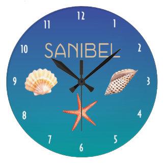 Reloj Redondo Grande Sanibel con los Seashells