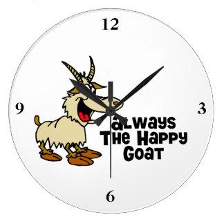 Reloj Redondo Grande Siempre la cabra feliz