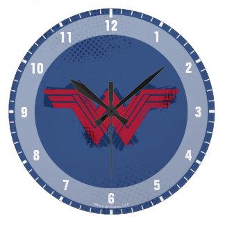 Reloj Redondo Grande Símbolo cepillado el | de la Mujer Maravilla de la