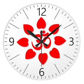 Reloj Redondo Grande Símbolo de OM