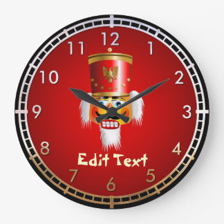 Reloj Redondo Grande Soldado de juguete divertido del cascanueces