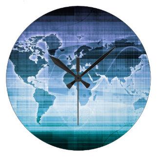 Reloj Redondo Grande Soluciones globales de la tecnología