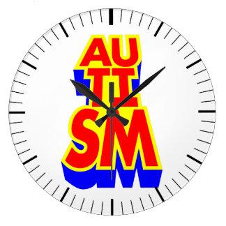 Reloj Redondo Grande Super héroe del autismo