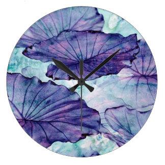 Reloj Redondo Grande Surrealismo botánico