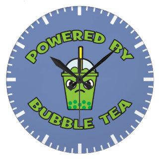 Reloj Redondo Grande Té de la burbuja, accionado por el té de la