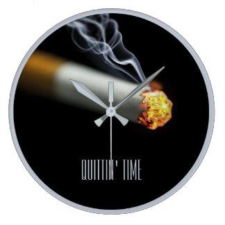Reloj Redondo Grande TIEMPO DE QUITTIN:  Pare el fumar de recordatorio