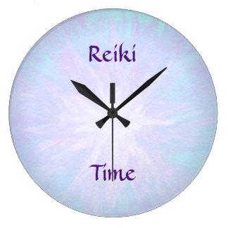 Reloj Redondo Grande Tiempo de Reiki