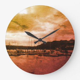 Reloj Redondo Grande Tiempo por el mar