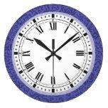 Reloj Redondo Grande Tudor floral púrpura cultiva un huerto damasco