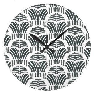 Reloj Redondo Grande Tulipanes negros