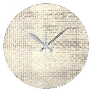 Reloj Redondo Grande Un diamante de marfil más astuto de la lentejuela