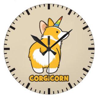 Reloj Redondo Grande Unicornio del Corgi - CORGICORN