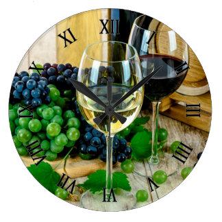 Reloj Redondo Grande Uvas y vino
