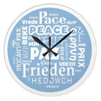 Reloj Redondo Grande Varios idiomas modernos elegantes de la PAZ del