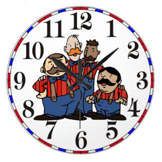 Reloj Redondo Grande Viejo cuarteto 2 de la barbería de la moda