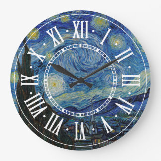 Reloj Redondo Grande Vincent van Gogh - la obra maestra de la noche