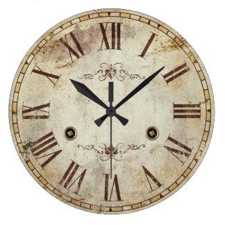 Reloj Redondo Grande Vintage decorativo único del número romano rústico