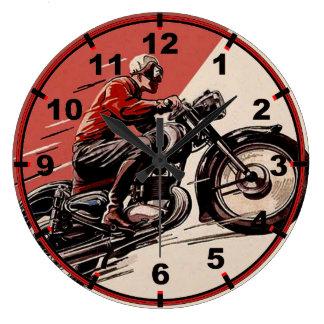 Reloj Redondo Grande Vintage Motorcycles