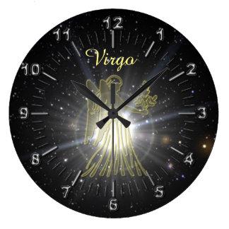 Reloj Redondo Grande Virgo brillante