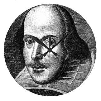Reloj Redondo Grande William Shakespeare
