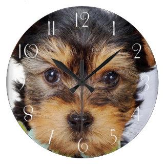 Reloj Redondo Grande Yorkshire Terrier adorable