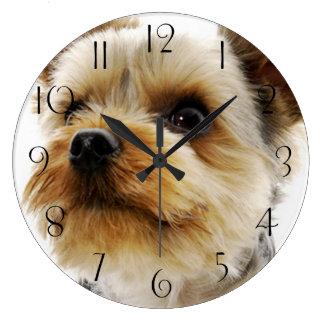 Reloj Redondo Grande Yorkshire Terrier magnífico