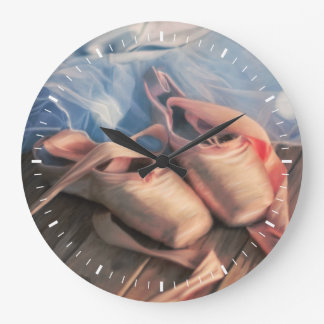 Reloj Redondo Grande Zapatos y jersey de ballet de la pintura