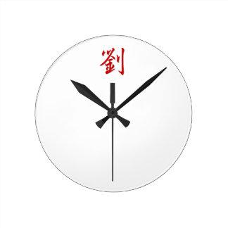 Reloj Redondo Mediano 劉 del apellido