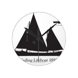 Reloj Redondo Mediano 1891 botes salvavidas navegantes - fernandes tony