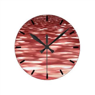 Reloj Redondo Mediano #2 abstracto: Falta de definición roja